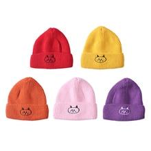 Newborn Boys Girls Caps Cute Autumn Winter Warm Kids Baby Cartoon Print Hats Wool Hemming Caps Baby Hats Newborn Unisex NEW