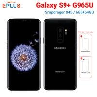 Nova Versão Original at&t Samsung Galaxy S9 Plus 64 S9 + G965U 6GB de RAM GB ROM Snapdragon Telefone Móvel 845 6.2