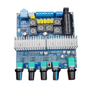 Image 2 - Bluetooth 5.0 TPA3116D2 Subwoofer amplifikatör kurulu 2.1 kanal yüksek güç ses Stereo amplifikatör kurulu 2*50W + 100W DC12V 24V AMP