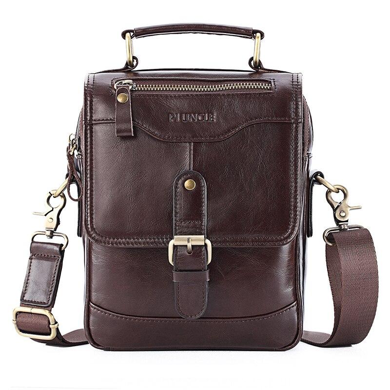 New 2020 Men Genuine Leather Handbag Small Business Male Cowhide Leather Messenger Bag Fashion Men's Shoulder Bag Handtasche