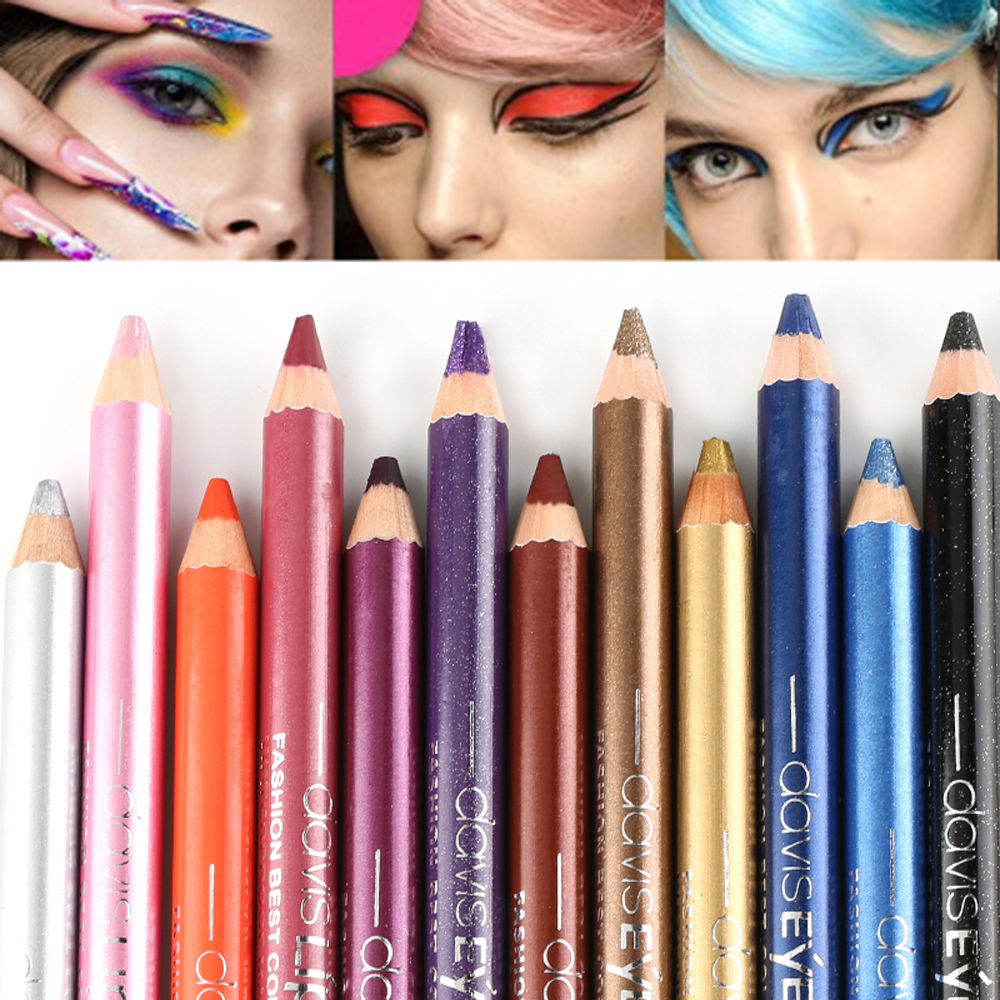 1pc Eyeliner Pen Highlighter Waterproof Eyeshadow Pencil Cosmetic Glitter EyeShadow Pen Cosmetic Glitter Eye Shadow Makeup Tools