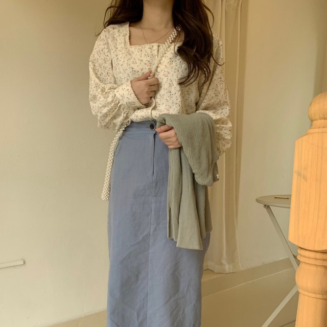 Joinyouth Square Collar Women Tops and Blouses Fashion Vintage Chic Chiffon Blusas Mujer 2020 Button Sweet Shirts New J482 4