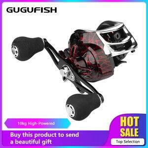 Image 1 - Рыболовная катушка GUGUFISH для заброса приманки левая/правая, 7,2: 1, с магнитным тормозом