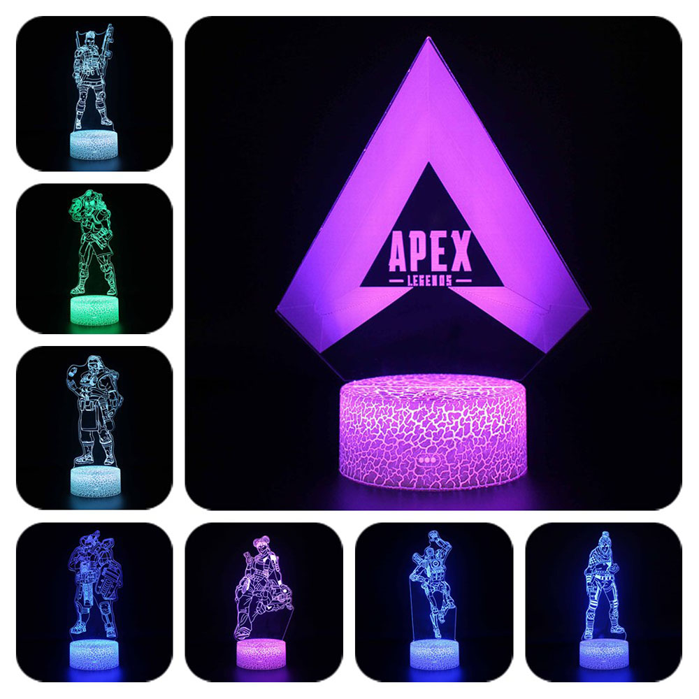 Novelty <font><b>Apex</b></font> Legends Night Light Action Figure Colors Changeable Luminous <font><b>Toys</b></font> For Kids Birthday Christmas Gifts image