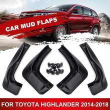 Car Mud Flaps Splash Guards Mudflaps Fender Mudguards Accessories For Toyota Highlander 2014 2015 2016 2017 2018(China)