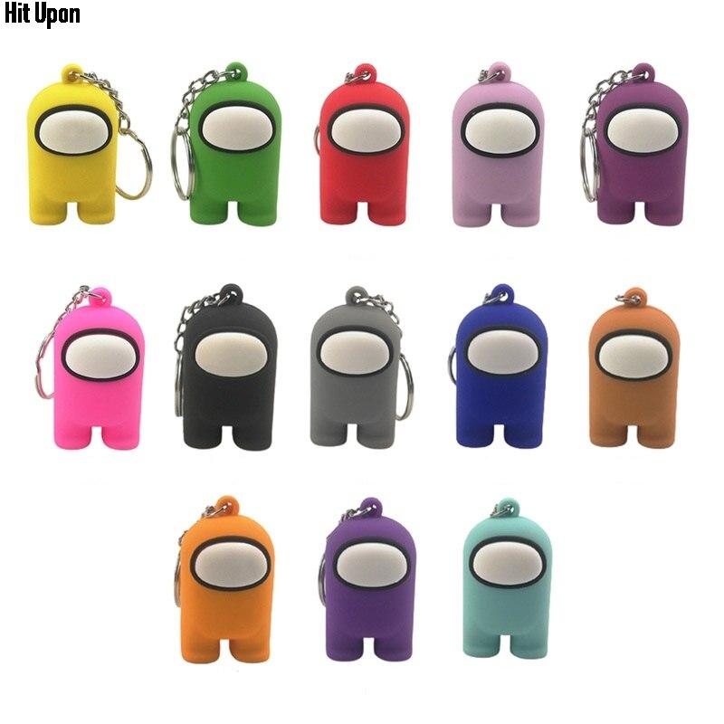 Popular bonito dos desenhos animados jogo entre nós boneca chaveiro brinquedo mochila pingente decoração