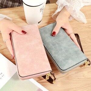 Brand Designer Wristband Wallets Women Many Departments Clutch Wallet Female Long Large Card Purse Ladies Handbag