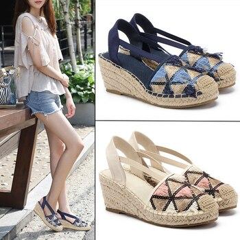 New espadrilles women sandals zapatos de mujer 2020 chaussure ete femme 2020 sandales luxe platform sandals