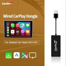 CarlinKit Wired Apple Carplay Dongle Fit Map Mirrorlink Map Youtube Android Auto na rynku wtórnym Android samochodowy panel główny 4 4 powyżej tanie tanio CN (pochodzenie) Android 4 2 800x480 Aftermarket Android screen 0 25W 5V 1-2 1A 5V 0 8-2A For IOS 10 above For Aftermarket Android 4 2 above