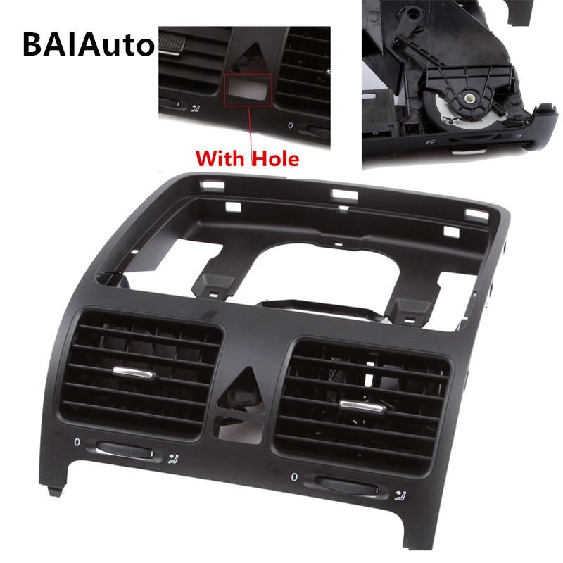Rear Bumper Centre Section No Sensor with Moulding Holes Black Citroen Berlingo