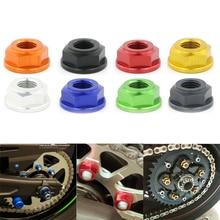цена на Motorcycle CNC Rear Wheel Sprocket Nuts M10*1.25 For Suzuki B-King SV650 SV1000/S SFV650 Gladius TL1000R TL1000S RF 900 RF 600