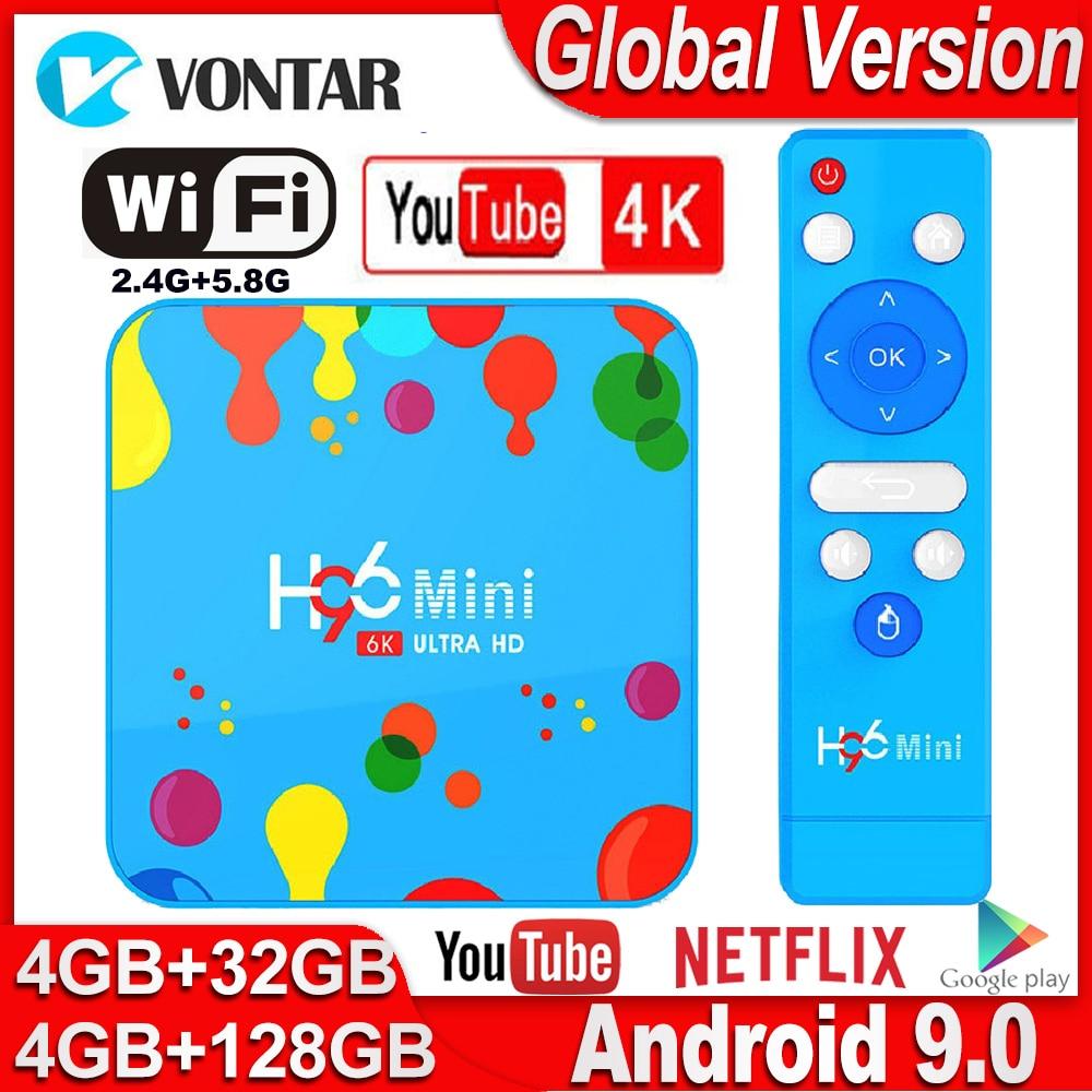 Smart TV BOX H96 Mini Max 4GB RAM 128GB ROM Android TV Box Android 9.0 H96mini Allwinner H6 2.4/5G Wifi TVBOX Netflix Youtube 4K