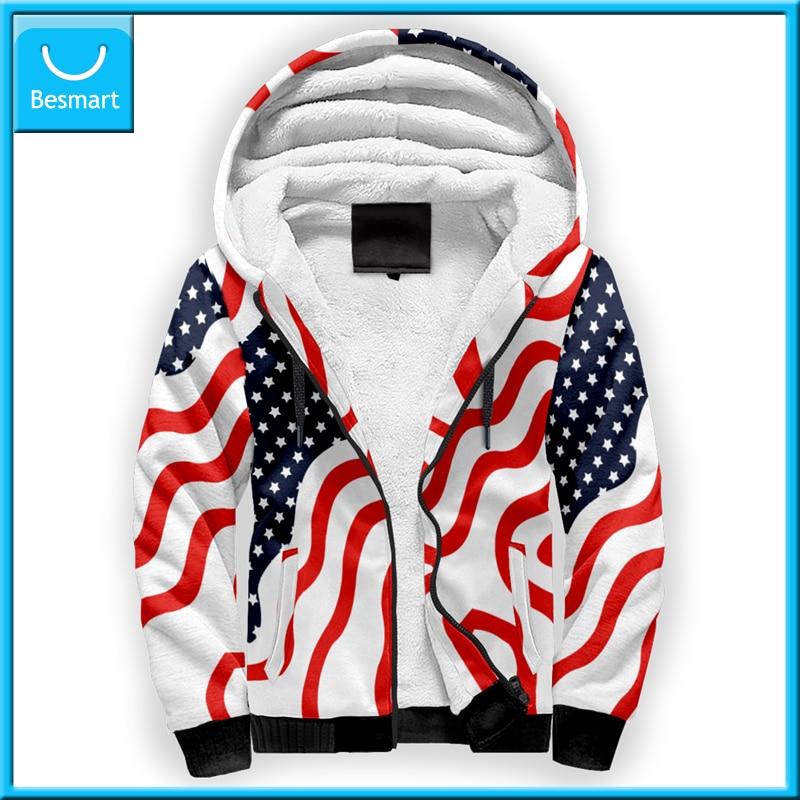 Besmart Print On Demand Custom Jacket America Flag Jacket