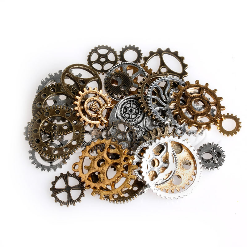 42Pcs/Pack Mix Alloy Mechanical Steampunk Cogs & Gears DIY Pendant Jewelry Craft1##