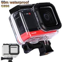 60m plongée étui étanche pour Insta360 ONE R 4K caméra coque étanche pour Insta 360 One R accessoires