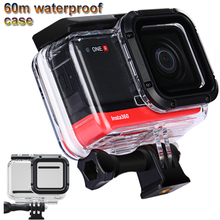 Insta360 용 60m 다이브 방수 케이스 Insta 360 ONE R 액세서리 용 R 4K 카메라 방수 쉘 커버