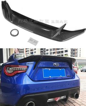 High Qualit CARBON FIBER & ABS REAR WING TRUNK LIP SPOILER FOR Subaru BRZ / Toyota GT86 GT 86 2012-2019 AB STYLE image