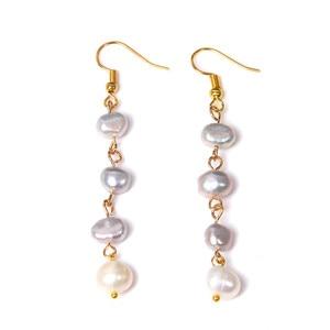 Barroco Real perlas gota pendientes de Metal de oro de gris Natural gota de perla de la joyería para las mujeres de la boda de novia Felmale Danglars regalo