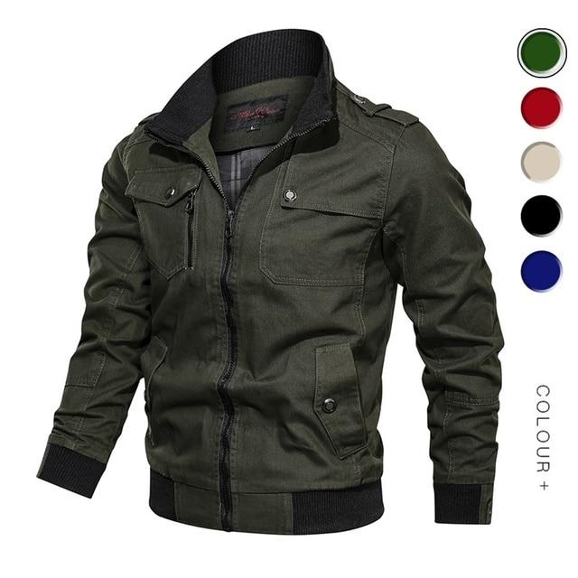 2019 Military Jacket Men Spring Autumn Cotton Windbreaker Pilot Coat Army Men's Bomber Jackets Cargo Flight Jacket Male Clothes 20