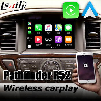Carplay interface box for Nissan Pathfinder R52 2012-2020 with Murano Patrol Elgrand 370z Android auto youtube play image