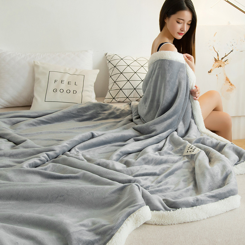 Winter Wool Blanket Ferret Cashmere Blanket Warm Blankets Fleece Super Warm Soft Throw On Sofa Bed Cover Square Blanket