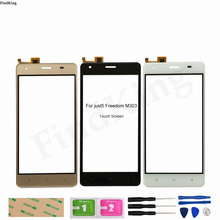 5.0'' Phone Touch Screen For JUST5 Freedom M303 Touch Screen Front Glass Panel Digitizer Repair Replacement Part Tape