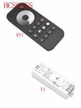 V1 + RT1 DC5V-36V Draadloze 2.4G Rf Wireless Touch Led Dimmer Controller Voor Voor 5050 3528 Enkele Kleur Led strip Licht