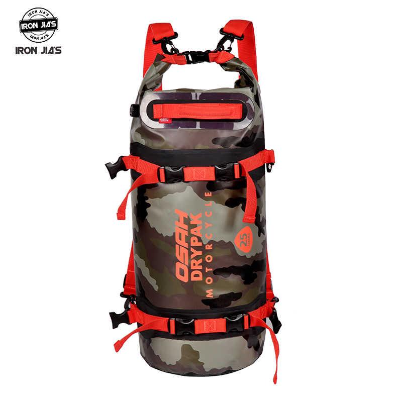 OSAH DRYPAK 15L/20L/25L moto étanche queue sacs multi-fonctionnel Durable arrière moto siège sac haute capacité PVC sac