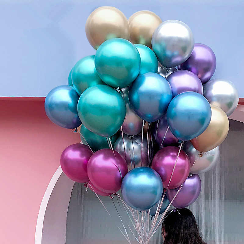 10 قطعة 12 بوصة بالونات حفلة عيد ميلاد زينة الاطفال الكبار Balony Globos الديكور patio versaire Palloncini Festa Infantil
