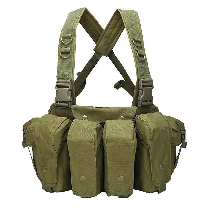 Tactical Vest Airsoft Ammo Chest Rig AK 47 Magazine Carrier Vest Combat Tactical Military Hunting Gear