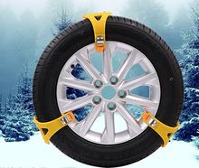4pcs/set Car Tyre Winter Roadway Safety Anti-skid Safety Double Snap Skid Wheel TPU Chains Tire Snow Adjustable(China)