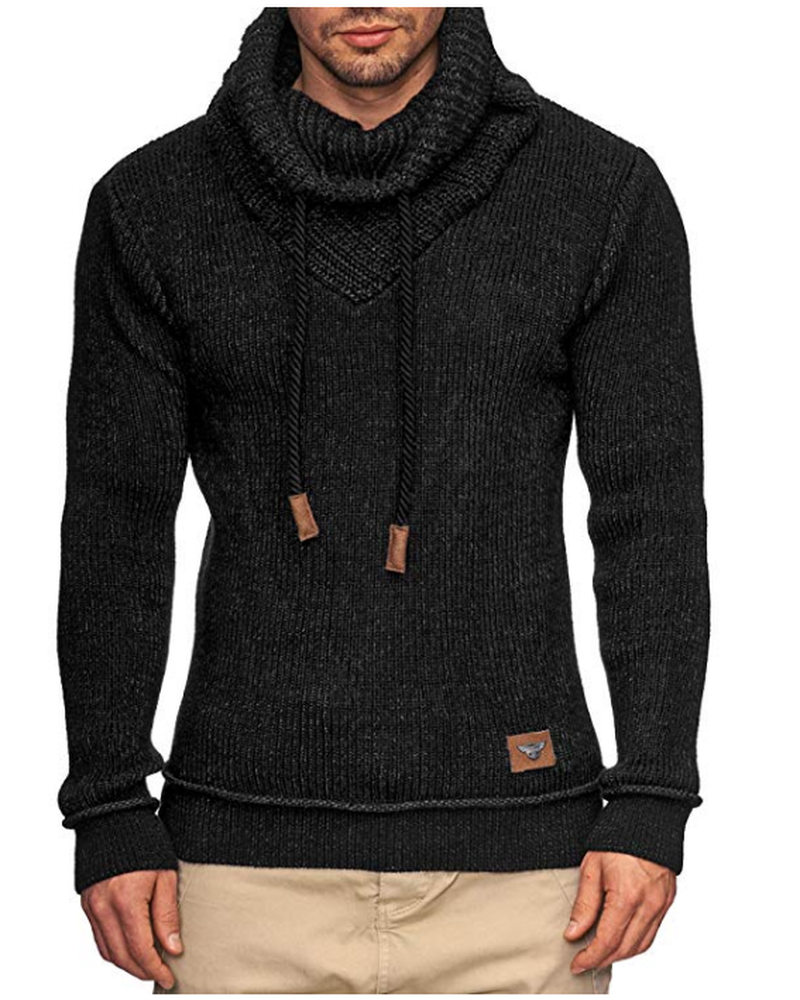 ZOGAA Mens Sweaters Winter Solid Color Warm Outwear Casual Christmas Turtleneck Sweater Casual Slim Fit Pullovers Men Sweaters