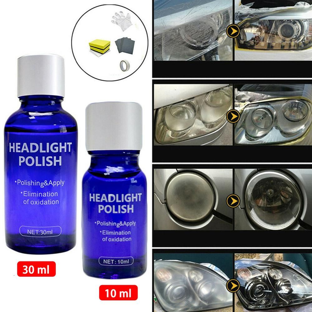 Rush Sale!9H 10ML 30ML Car Hardness Headlight Lens Restorer Repair Liquid Polish Auto Cleaner Set Environmentally Friendly Brand