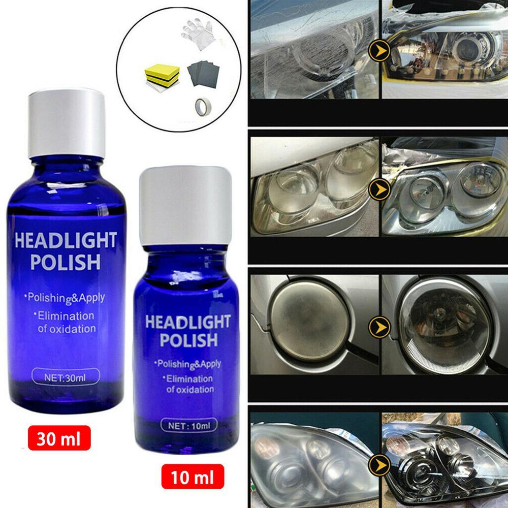 Rush Sale!9H 10ML 30ML Car Hardness Headlight Lens Restorer Repair Liquid Polish Auto Cleaner Set Environmentally Friendly Brand