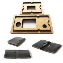 NewJapan פלדת להב 3 יח\סט עובש DIY עור כרטיס בעל תיק סט יד אגרוף כלי סכין עובש עץ למות Leathercraft כלי סט