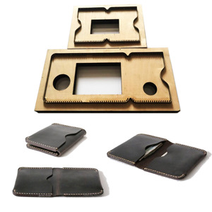 Image 1 - NewJapan Steel Blade 3pcs/set mould DIY leather card holder bag set hand punch tool knife mould wooden die Leathercraft Tool set