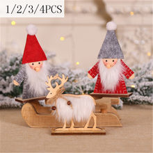 New Year 2020 Kids Gifts Doll Cute Plush Angel Doll 2019 Christmas Tree Ornaments Christmas Table Decoration for Home 1/2/3/4PCS(China)