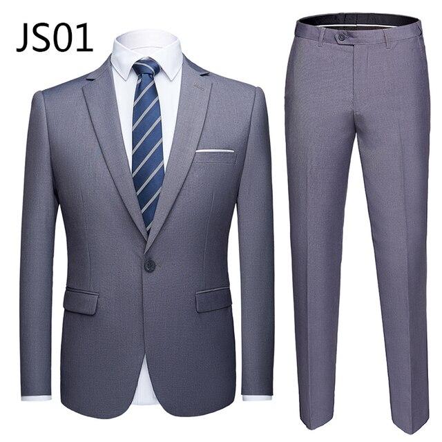 Мужской деловой костюм из 2 предметов фирменный Super Quality 1