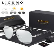 Design de moda piloto óculos de sol homem polarizado seguro condução fotocromática feminino masculino motorista óculos de sol homem