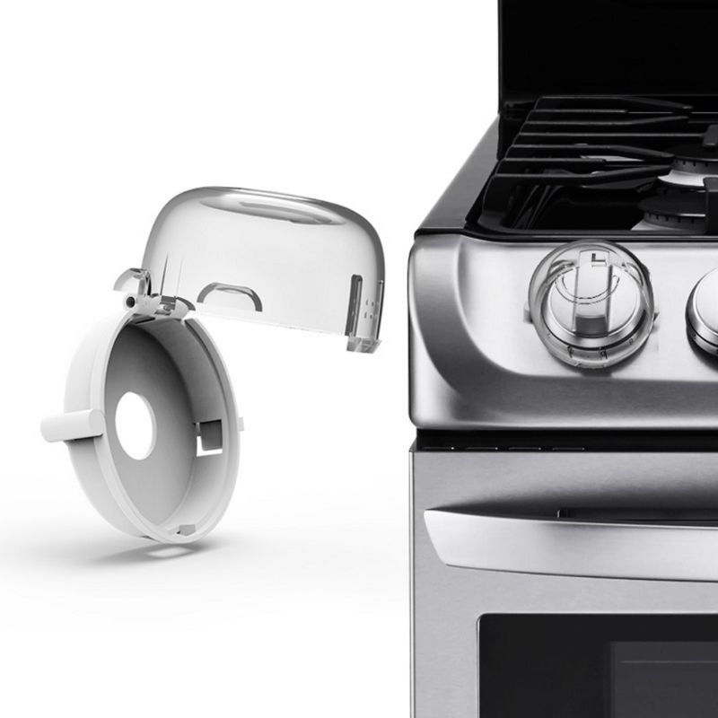 2Pcs Kids Baby Gas Stove Switch Protective Cover Locks Child Proof Oven Cooker Knob Sleeve Children Safety Care