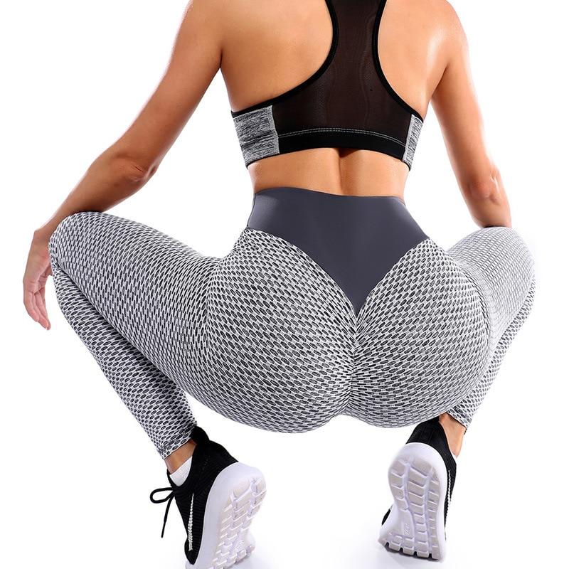 Drop Shipping High Waist Fitness Leggings Women Seamless Workout Pants Patchwork Push Up Leggins Butt Sexy Gym Clothings Femme 1