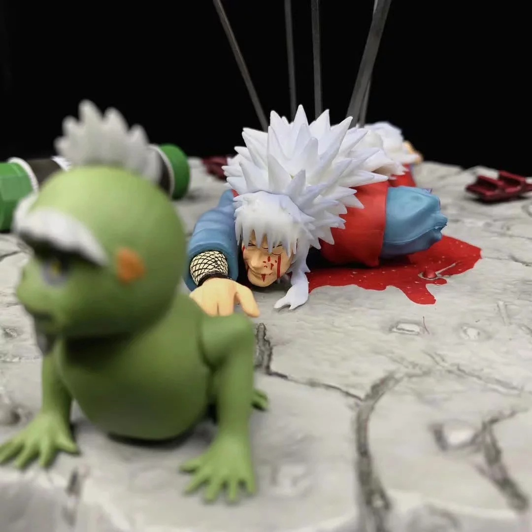 Figura de Naruto Shippuden de Anime nuevo, Estatua de la muerte de Jiraiya Gama Sennin Ero-sennin GK de PVC, modelo de figura de acción, juguete coleccionable