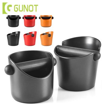 Pojemnik na kawę GUNOT odporny na wstrząsy kosz na śmieci Espresso z uchwytem pojemnik na kawę pojemnik na kawę pojemnik na kawę tanie i dobre opinie Z tworzywa sztucznego Dwuczęściowy zestaw Black Orange Red As shown 246 g 294 g ABS plastic With Handle Shock-absorbent