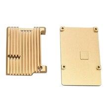 Для Raspberry Pi 4 Модель B защитный чехол из алюминиевого сплава/пассивный охлаждающий корпус металлический корпус тепловыделение для Pi 4