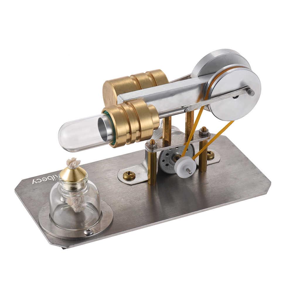 Aibecy Modelo de Ar Quente Do Motor Stirling Motor Gerador de Eletricidade de Ciências Da Educação da Base de Metal Brinquedo