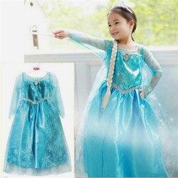 Princess Baby Girls Dress Kids frozen costume Dress Snow Princess Queen Dress children's Party Gown Cosplay Tulle Dress 3-8Y