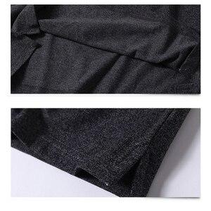 Image 5 - Paars Mannen Polo Shirt Top Kantoor Mannen Camisa Masculina Katoen Badge Polo Shirt Plus Size 5XL Zomer Casual Tee shirts