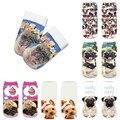 Симпатичные носки с 3D-принтом собаки, женские носки до щиколотки, носки с животными, художественные носки для щенков, модные крутые Забавные...