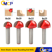 Wood Cutter Router-Bit 8mm Shank Round Solid Carbide Core-Box Nose CMCP Cove 16/19/22/25mm