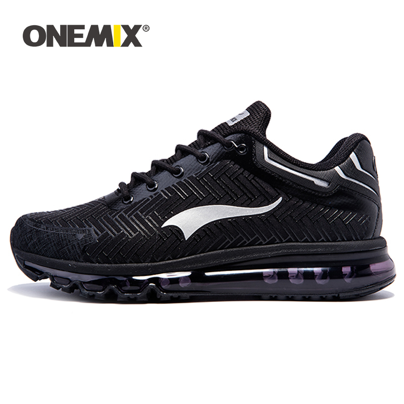 ONEMIX 2019 Trail Sneaker Men Running Shoes Fashion Comfortable Lace-up Damping Air Cushion Sports Tennis Shoes Fitness Trainers